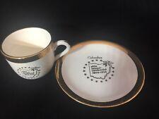 Vintage Crest O Gold 22K Demi Cup Saucer Ohio Sesqui-centennial Comm 1803-1953