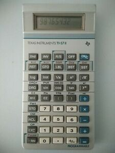 TI57 II programmable Texas instrument - ti57 2 - calculatrice collection rare