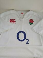 New listing England Rugby Union Home Shirt Canterbury O2 Size UK XL