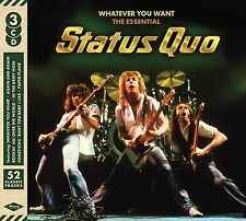 STATUS QUO WHATEVER YOU WANT THE ESSENTIAL 3CD ALBUM (November 25th 2016)