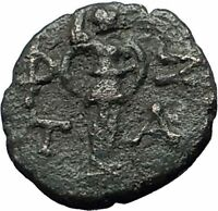 TEMNOS in AEOLIS 2-1CenBC ATHENA PROMACHOS Authentic Ancient Greek Coin i59754