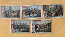 5 Sammelbilder Liebig, Serie 510 / 657, Schusswaffen verschiedener Zeiten, 1901