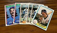 Dave Kingman 6 card lot 1981 - 1982