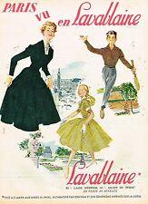 C- Publicité Advertising 1955 Les Vetements Robe Femme enfants Lavablaine