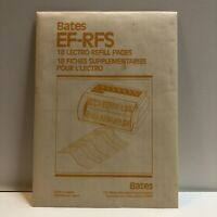 Vintage Bates Lectro EF-RFS Refill Pages 18 Count.