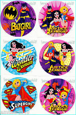Batgirl/Supergirl/Wonder Woman Stickers x 6 - Superheroes Favours Party Birthday