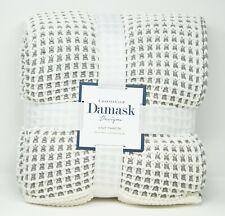 "Charter Club Damask Designs Two Tone 50"" x 60"" Acrylic Knit Throw - Gray"