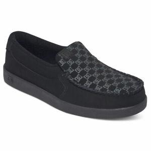 DC Shoes Men's Villain Leather Slip-On Low Top Sneaker Shoes Black (BL0) Foot...