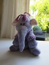 ♥ Peluche Doudou L'Éléphant Lumpy En Peignoir Mauve Disney Nicotoy 25 Cm