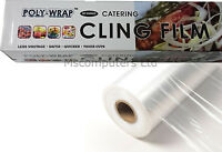 Poly-Wrap Catering Cling Film Kitchen Clear Food Wrap With Box Cutter