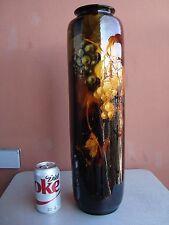 "Huge Weller Aurelian 20"" Grapes Vase Eugene Roberts"