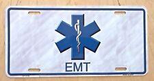 EMT EMS RESCUE SQUAD  LOGO AMBULANCE EMERGENCY  FRONT LICENSE PLATE