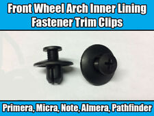 10x Clips For Nissan Front Wheel Arch Inner Lining Fastener Trim Black Plastic