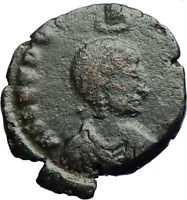 EUDOXIA Arcadius Wife 401AD Authentic Ancient Roman Coin VICTORY CHI-RHO i69993