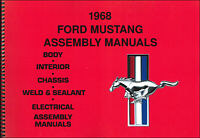 1968 Ford Mustang Assembly Manual set of 5 Books in 1 Volume