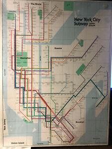 Vintage 1977 New York City Subway Map Zigsaw Puzzle Mint Sealed