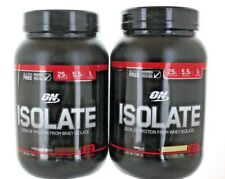 2 Pack Optimum Nutrition Isolate Whey Protein Vanilla & C- 45 Servings