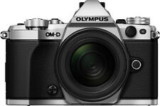 Olympus OM-D E-M5 Mark II 16.1MP Digitalkamera - Silber (Kit mit EZ-M 12-50mm Objektiv)