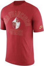 Authentic Nike San Francisco 49ers Retro Logo Tri-Blend Jersey Shirt Large L NFL