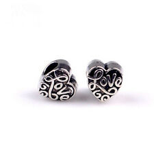 5PCS Charm Alloy  Big Hole Beads fit European Silver Bracelet DIY--042