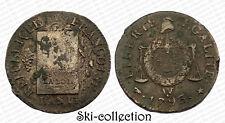 Boden, der Waagen-Konvention, Jahr II ° 1793 W+Punkt (Arras). Frankreich. MDC