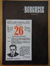 1954-IL BORGHESE-Direttore LEO LONGANESI-Anno V, Numero 35