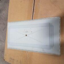 ANTIQUE VINTAGE LIGHT FIXTURE 50'S WHITE SHADE GLASS