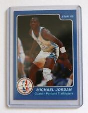 Michael Jordan 1985 Star North Carolina Error Text Basketball Rare Card