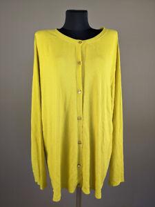 PERSONA by MARINA RINALDI Women Sweater Cardigan Long Sleeve Yellow Size XL