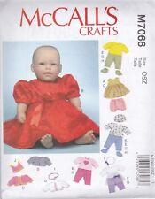 """McCall's Couture Motif LOISIRS CRÉATIFS VÊTEMENTS ACCESSOIRES POUR 11-16"""" bébé"""