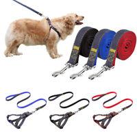 No Pull Adjustable Dog Pet Harness Nylon Small/Medium/Large/XL & Denim Leash Set