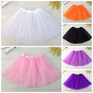 Girls Tutu Skirt Dance Ballet Tulle Tutu Skirt 2-8 Years