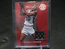 2012-13 Totally Certified Dennis Rodman RED NBA San Antonio SPURS Jersey Card
