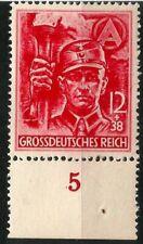 APRIL 21 1945 NAZI GERMANY LAST POSTAGE STAMP SA STORM TROOPER MINT NEVER HINGE