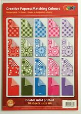 A4 de doble cara papel modelado PACK - 20 Hojas-Varios Colores
