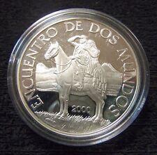 URUGUAY $ 250 PESOS 2000 SILVER UNC COIN Hombre y Caballo Encuentro dos Mundos