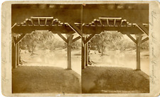 USA, Chicago, Lincoln Park Vintage stereocard print Tirage albuminé  11x18