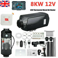 12V 8KW Diesel Air Heater Planar LCD Thermostat Silencer Car Truck Motorhome UK