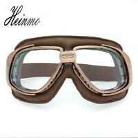 Classic Motorcycle Cruiser Scooter Biker Vintage Retro Aviator Pilot Goggles