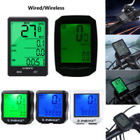 Wired&Wireless LCD Bicycle Computer Bike Cycling Odometer Speedometer Waterproof
