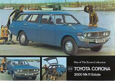 Toyota Corona Mark Ii 2000 Estate 1973 Original del Reino Unido folleto de ventas
