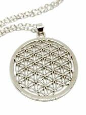 "Flower of Life Pendant Sacred Geometry Reiki Yoga Peace 18"" Necklace Jewellery"