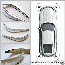 2 Pcs White Car Bumper Protector Exterior Streamline Anti-rub Crash Strip Cover