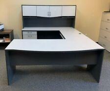 U Shaped Computer Desk With Hutch 4 Piece