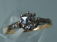 STUNNING 1920's DECO DIAMOND SOLITAIRE RING 18CT GOLD  PLATINUM.54CT- HSL2