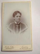 Lutheran-else krahnert as a Young Woman Girl in Dress-Portrait/Cdv