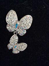 brooch pin rhinestone butterfly