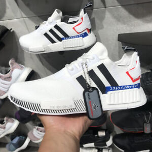 ADIDAS ORIGINALS NMD_R1 WHITE BLUE RED EF0753 MEN'S RUNNING CASUAL SHOES