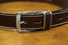 GUY LAROCHE Men's 100% Calf Leather Brown Belt Free Shipping New with Tags