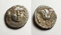 Rhodos Island Caria 304BC Helios Rose Ancient Silver Drachm Greek Coin